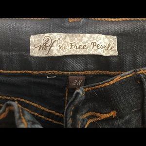 M2F for Free People Flare leg dark denim jeans